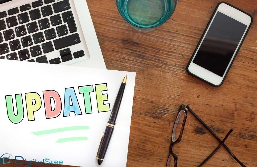 Updating website content regularly
